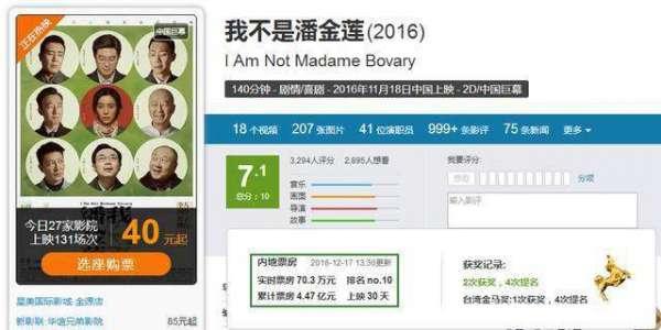 """《我不是潘金莲》延期上映:票房将超5亿大关,这么""""硬挺""""""""好神奇"""""""