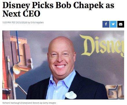 迪士尼换新CEO!艾格卸任标志着做出改变与时代结束